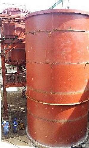 Montagem de tanques industriais