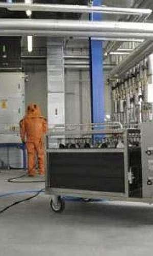 Rede de ar comprimido industrial